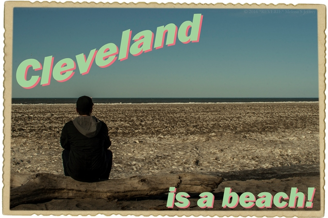 CLEVELAND IS A BEACH II postcard-web