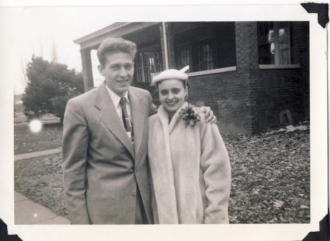 John & Shirley_Easter_1956
